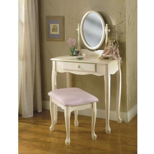 Powell Furniture - Off-White Vanity, Mirror & Bench - 929-290