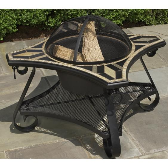 Alfresco Home San Marco (Arezzo) Beverage Cooler/Firepit Chat Table