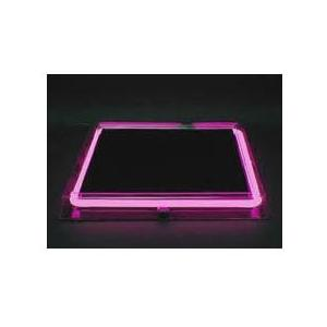 Neon Concepts 15 Inch Square Clear Top Serving Tray (Pink Neon / Disposable Battery)