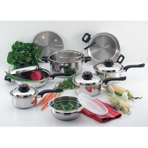Chefs Secret Element Stainless Steel Cookware Set – 15pc