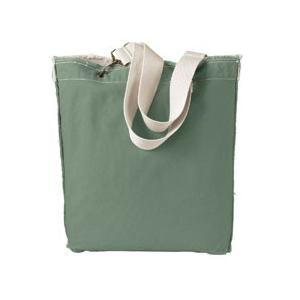 Authentic Pigment Direct-Dyed Raw-Edge Tote - Cilantro