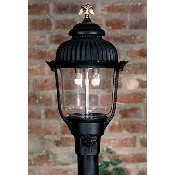 Gaslite America GL1700 Cast Aluminum Manual Ignition Natural Gas Light With Dual Mantle Burner For Post Mount