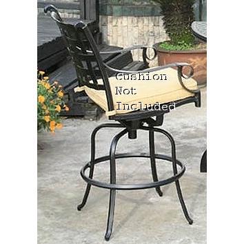 Alfresco Home Chateau Swivel Bar Chair Frame - Antique Topaz