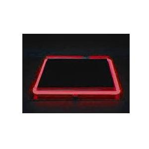 Neon Concepts 15 Inch Square Clear Top Serving Tray (Red Neon / Disposable Battery)