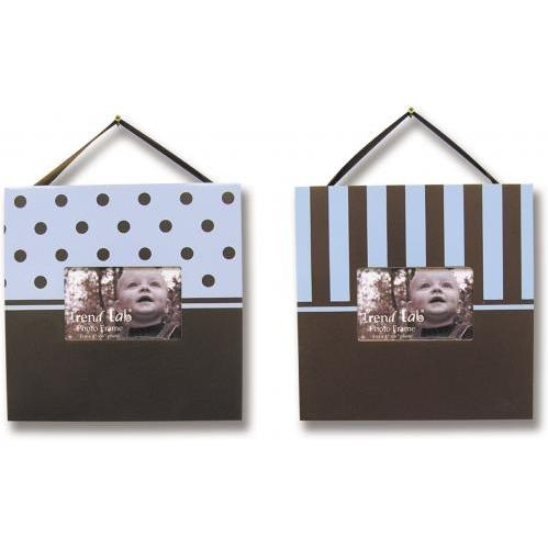 Trend Lab 2-Piece Photo Frame Set - Brown/Blue