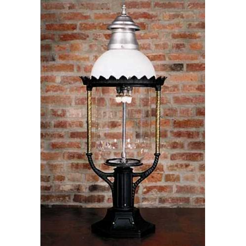 Gaslite America GL36 Cast Aluminum Manual Ignition Propane Gas Light With Open Flame Burner And Pedestal Mount