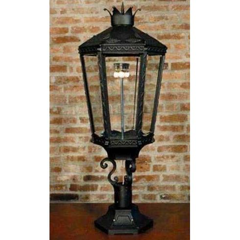 Gaslite America GL10000 Cast Aluminum Manual Ignition Natural Gas Light With Triple Mantle Burner With Pedestal Mount
