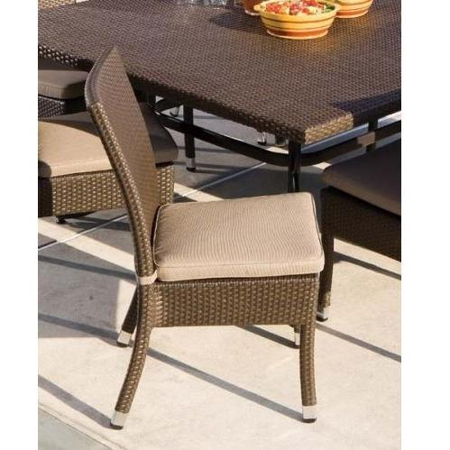 Alfresco Home Vento Wicker Outdoor Side Chair With Cushion