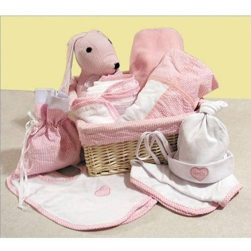 Trend Lab 12-Piece Deluxe Gift Basket - Pink