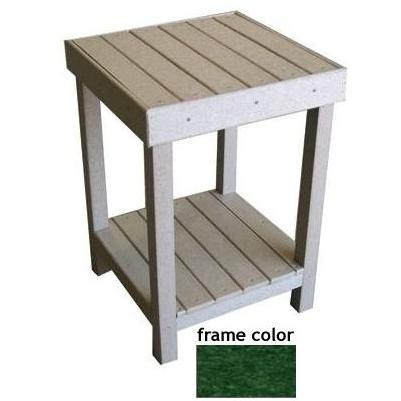 Eagle One Recycled Plastic Collier Bay End Table - Green