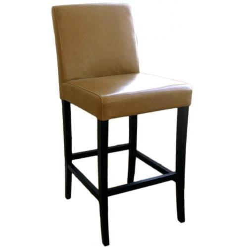 Quinn Leather Barstool In Light Brown