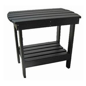 International Caravan Acacia Wood Side Table - Black - OL-005-BK