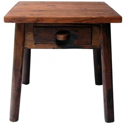Groovy Stuff Teak Wood Cimarron Side Table - TF-789