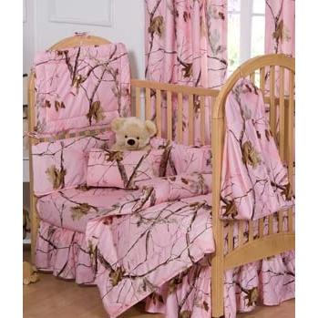 Realtree AP Pink Camo Crib Skirt