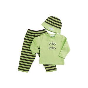Elegant Baby Fashion Set 12 Month - Green/Chocolate