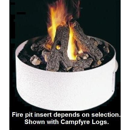 Peterson Outdoor Campfyre 27 Inch Natural Gas Manual Safety Pilot Fire Pit Package With Plain Stucco Frame And Beachwood Logs
