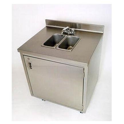 Crown Verity Portable Stainless Steel Double Sink