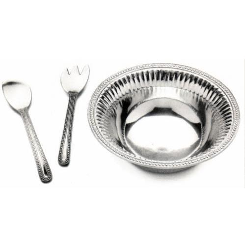 Wilton Armetale Flutes & Pearls 3pc Salad Set Large - 272106