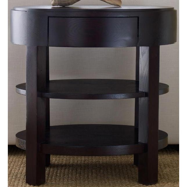 Abbyson Living Florence Ellipse End Table Espresso FR-7000-0300