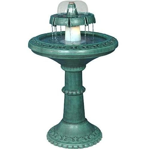 Alpine Fountain With Light