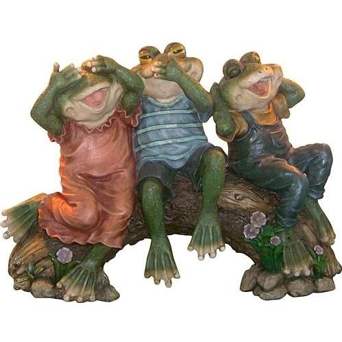 Alpine Three Wise Frogs Statuary