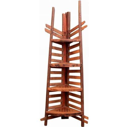 Groovy Stuff Colorado Teak Wooden Corner Shelf - TF-253