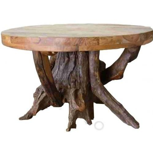 Groovy Stuff Teak Wood Stump Dining Table - Round - TF-774