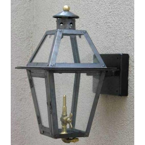 Regency GL15 Chateau Natural Gas Light With Open Flame Burner And Manual Ignition On Ceiling Basket Mount