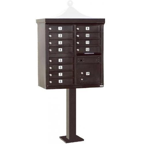 Regency F-Series 12-Door Cluster Box Unit - Bronze