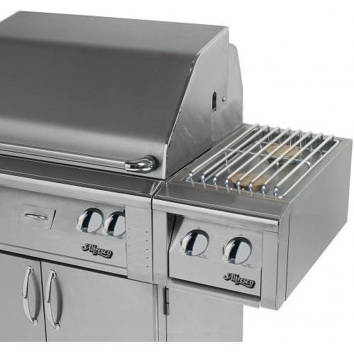 Alfresco Propane Gas Double Side Burner - Cart Mount