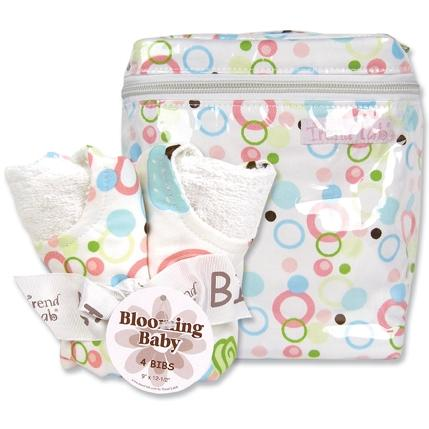 Trend Lab Bottle Bag And Bib Set - Cupcake