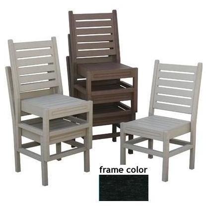 Eagle One Recycled Plastic Stackable Chair - Black