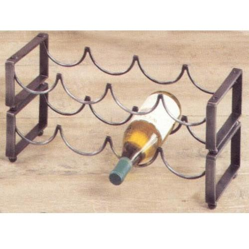 Old Dutch 4 Bottle Stackable Wine Rack - Antique Pewter - 088PW