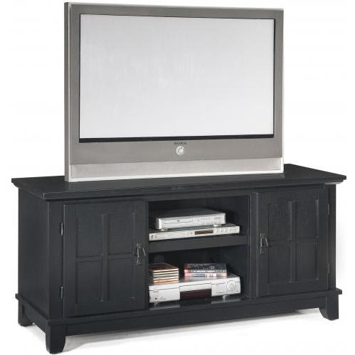 Home Styles Arts And Crafts Entertainment Console - Ebony - 5181-12
