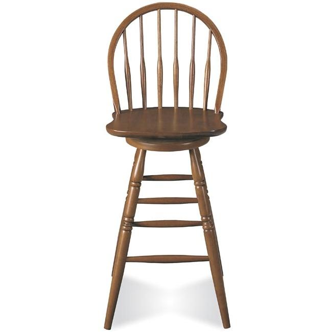 International Concepts Country Colonial Swivel Stool - Windsor Spindleback - 30 Inch Seat Height - Soft Cherry - A100-91
