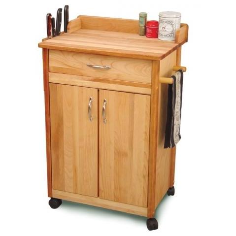 Birch Cuisine Cart W/Backsplash/Knife Rack