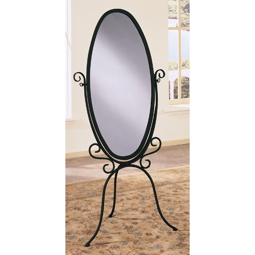 Powell Furniture - Garden District Black With Gold Highlights Scroll Cheval Mirror - 147