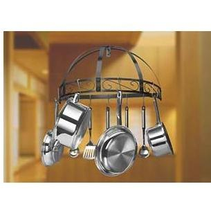 Innova Classicor Wrought Iron Semi-Circle Wall Mount Pot Rack
