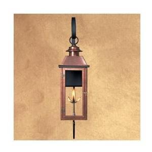 Legendary Lighting Vulcan 1 Copper Natural Gas Light With Wall Bracket