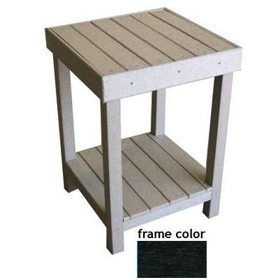 Eagle One Recycled Plastic Collier Bay End Table - Black