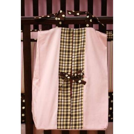 My Baby Sam Diaper Stacker - Pink Mad About Plaid