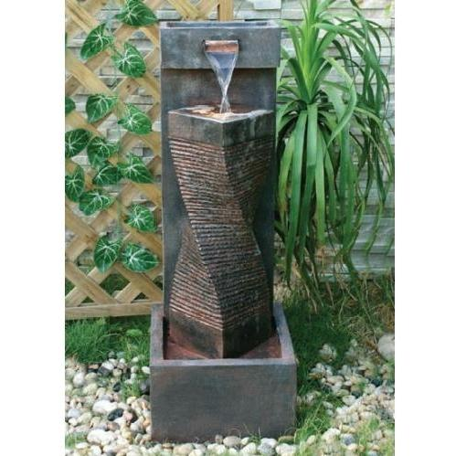 Alfresco Home Spirale Fountain With (Pump And Light)