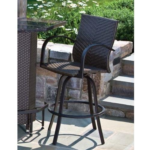 Alfresco Home Vento Outdoor Mezzo Swivel Bar Arm Chair - Set Of 2