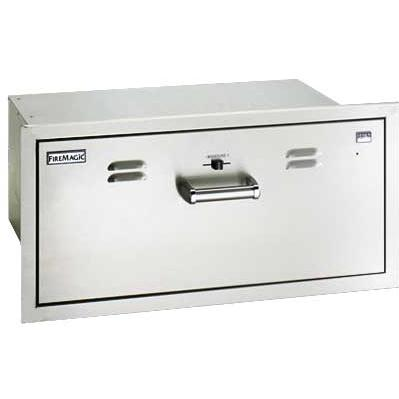 Fire Magic Echelon Flush-Mounted Stainless Electric Warming Drawer