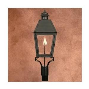 Legendary Lighting Atlas 2 Copper Natural Gas Light With Post Bracket