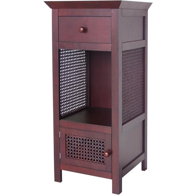 Elegant Home Fashions Cane Floor Cabinet 6025