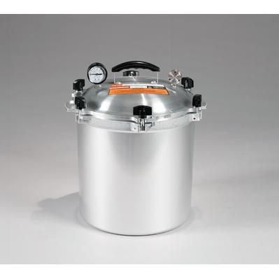 Chefs Design Cast Aluminum All-American Cooker/Canner With Two Racks - 25 Qt. Liquid Capacity