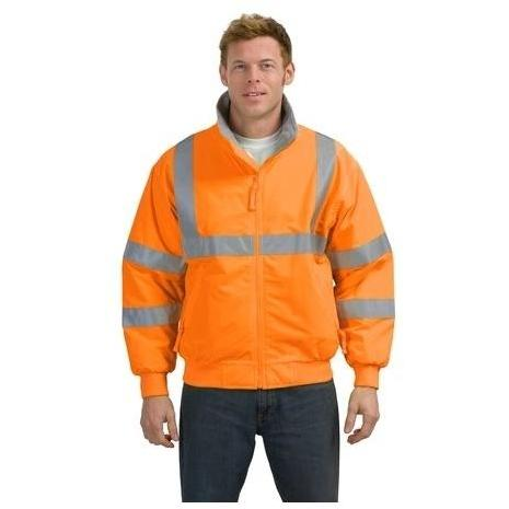 Port Authority Safety Challenger Reflective Stripe Jacket Large - Safety Orange/Reflective