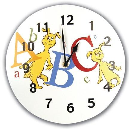 Trend Lab Wall Clock - Dr Seuss ABC