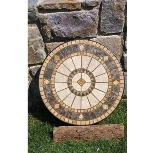 Alfresco Home Compass Outdoor Lounge Table Center Disc - For 48 Inch Round - Disk Only